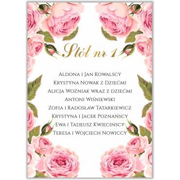Plan stołów na wesele Kwiatowy 17b