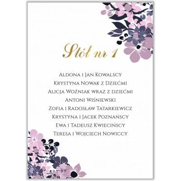 Plan stołów na wesele Kwiatowy 19b