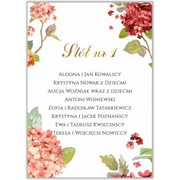 Plan stołów na wesele Kwiatowy 20b