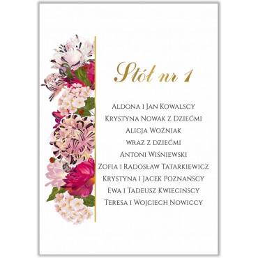 Plan stołów na wesele Kwiatowy 21b