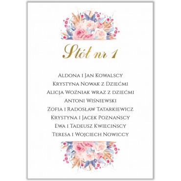Plan stołów na wesele Kwiatowy 22b