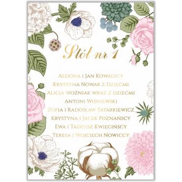 Plan stołów na wesele Kwiatowy 23b