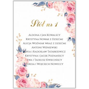 Plan stołów na wesele Kwiatowy 24b