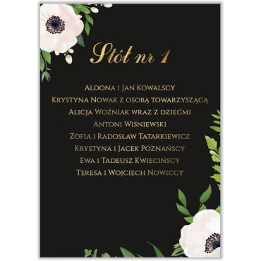 Plan stołów na wesele Kwiatowy 01a