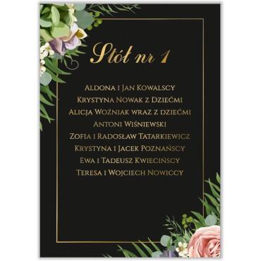 Plan stołów na wesele Kwiatowy 10a