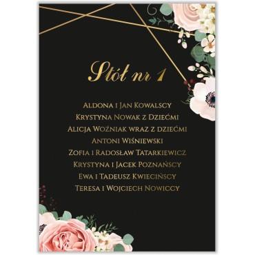Plan stołów na wesele Kwiatowy 12a