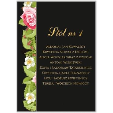 Plan stołów na wesele Kwiatowy 13a