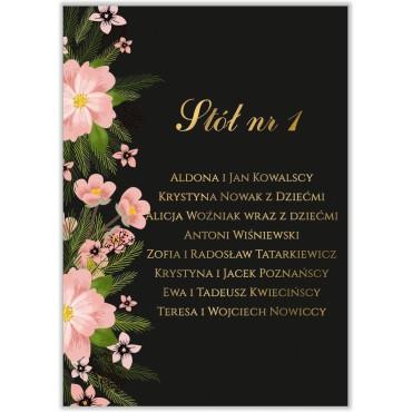 Plan stołów na wesele Kwiatowy 14a