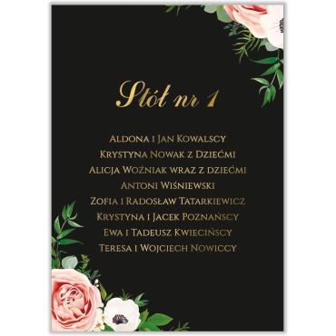 Plan stołów na wesele Kwiatowy 15a