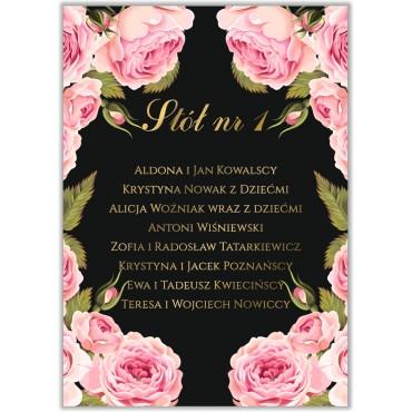 Plan stołów na wesele Kwiatowy 17a