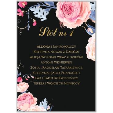 Plan stołów na wesele Kwiatowy 18a