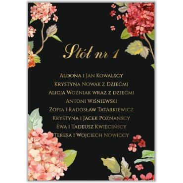 Plan stołów na wesele Kwiatowy 20a