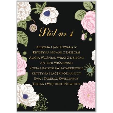 Plan stołów na wesele Kwiatowy 23a