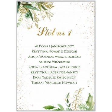 Plan stołów na wesele Botaniczny 02