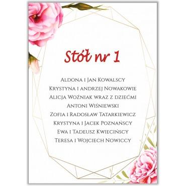 Plan stołów na wesele Boho nr 01