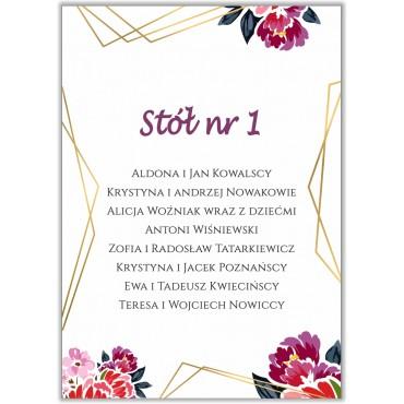 Plan stołów na wesele Boho nr 02