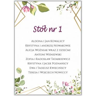 Plan stołów na wesele Boho nr 03