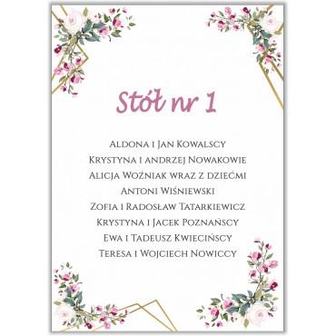 Plan stołów na wesele Boho nr 04