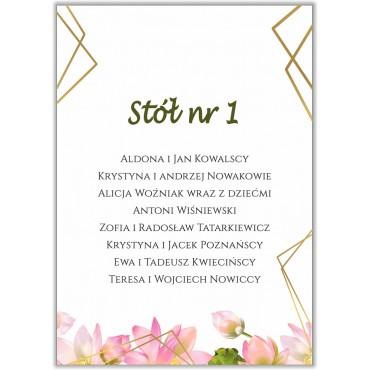 Plan stołów na wesele Boho nr 05