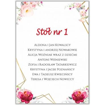 Plan stołów na wesele Boho nr 06