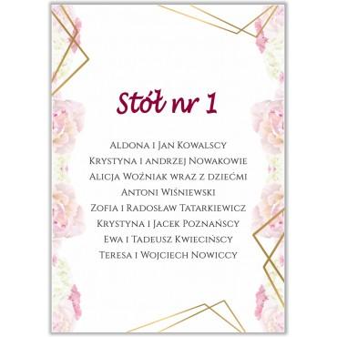 Plan stołów na wesele Boho nr 13