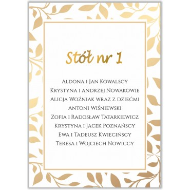Plan stołów na wesele Boho nr 16