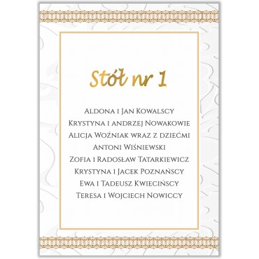 Plan stołów na wesele Boho nr 19