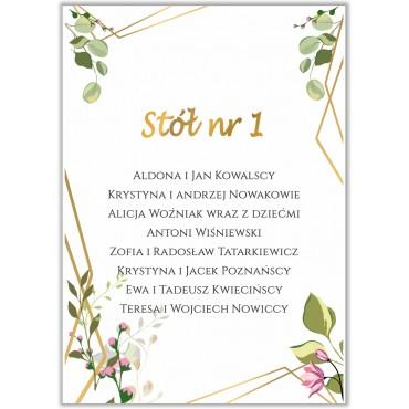 Plan stołów na wesele Boho nr 22
