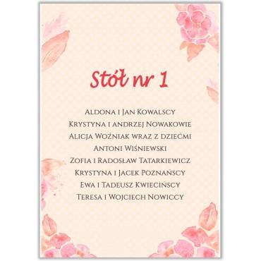 Plan stołów na wesele Boho nr 23