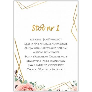 Plan stołów na wesele Boho nr 24