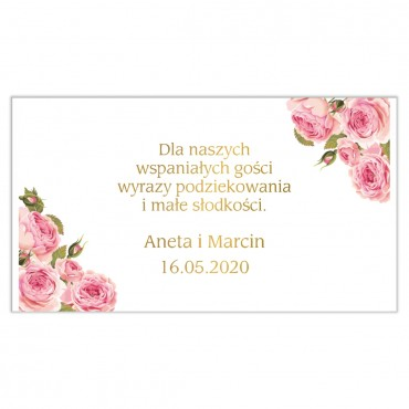 Etykiety na ciasto weselne Kwiatowe 17b