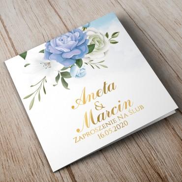Zaproszenia ślubne chabrowe