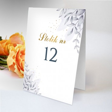 Numery stolików na wesele Chabrowe 02