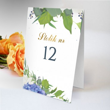 Numery stolików na wesele Chabrowe 04