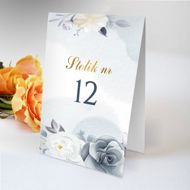Numery stolików na wesele Chabrowe 11