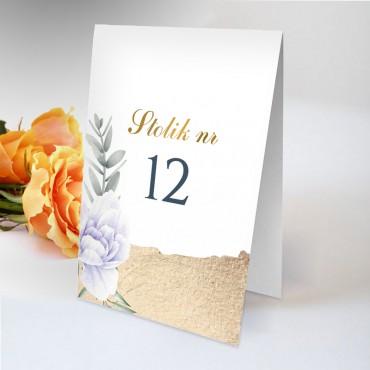 Numery stolików na wesele Chabrowe 12