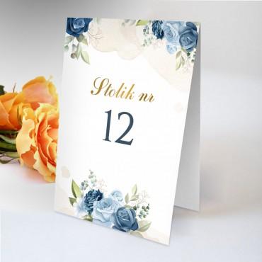Numery stolików na wesele Chabrowe 06