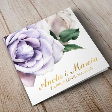 Zaproszenia Ślubne Akwarela nr 01
