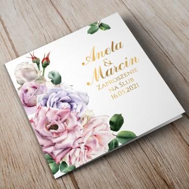 Zaproszenia Ślubne Akwarela nr 02