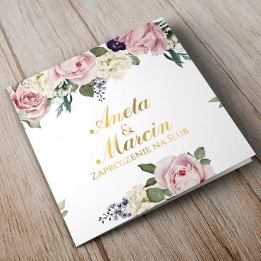 Zaproszenia Ślubne Akwarela nr 04