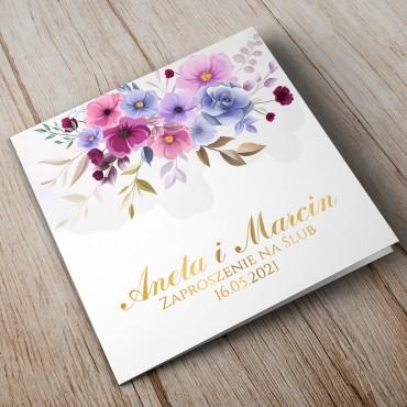 Zaproszenia Ślubne Akwarela nr 06