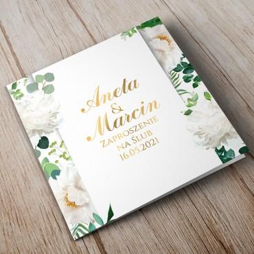 Zaproszenia Ślubne Akwarela nr 08