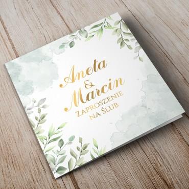 Zaproszenia Ślubne Akwarela nr 09