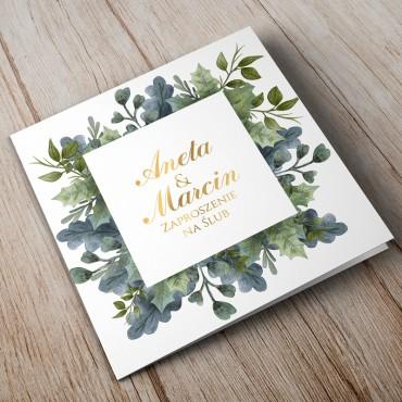 Zaproszenia Ślubne Akwarela nr 10
