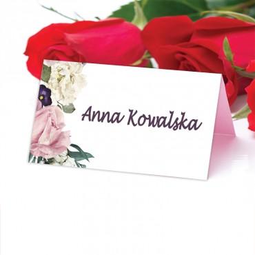 Winietki Ślubne na Stół Akwarela 04