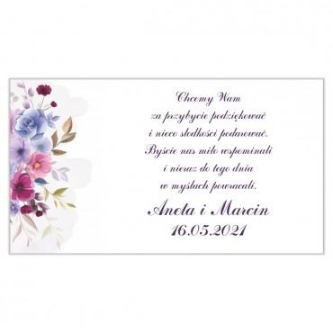 Etykiety na ciasto weselne Akwarele 06